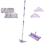 "MBA #V25766  ""Don Asletts All In One Interchangeble Micro Fiber 10 Piece Mop Set"""