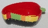 "+MBA #113-111   ""Ceramic Chili Pepper Serving Bowl With Spoon"""
