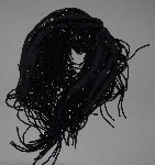 "MBA #1313-0021  ""73"" LOng Black Beaded Fringe"""