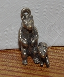 "MBA #1515-207  ""Set Of 3 Sterling Mama Bear & Cub Pendants/Charms"""