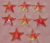 "MBA #1616-0040  ""Set of 8 Faceted AB Crrstal Star Beads"""