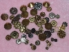 "MBA #1616-007  ""54 Piece Set Of Metal Vintage Buttons"""