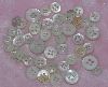 "MBA #1616-0164  ""Vintage Lot Of 74  White Shell Buttons"