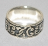 "MBA #1818-0082  ""Sterling Celtic Band Ring"""
