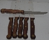 "MBA #2020-0127  ""Set Of 6 Oak Handled 09W Oxford Steak Knifes"""