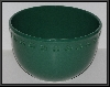 "+MBA #2323-0028  ""2003 Chantal 12 Cup Green Ceramic Clover Mixing Bowl"""