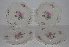 "+MBA #2323-0101  ""Set Of 4 Pink Rose Bavarian Style Dinner Plates"""