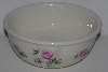"+MBA #2323-0115  ""Ceramic Small  Pink Rose Mixing Bowl"""