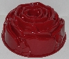 "MBA #2525' 0028  ""Red Nordic Ware Rose 10 Cup Bundt Pan"""