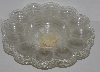 "MBA #2525-0082  "" 1990's Set Of 5 Clear Plastic Deviled Egg Dishes"""