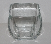 "MBA #2626-368  ""Thick Heavy Short Clear Glass Vase"""