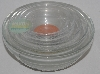 "MBA #2727-598   ""2000 Martha Stewart Set Of 5 Clear Glass Spice Nesting Bowls"""