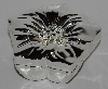 "MBA #2727-602   ""2006 Silver Safekeeper Flower Shaped Jewelry Box"""