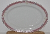 "+MBA #2727-0434    ""Majesty Collection Taupe Fantasy Large Oval Serving Platter"""