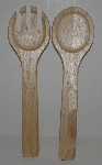 "MBA #2727-678   ""1 Set Wooden Salad Tossers"""
