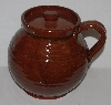 "MBA #2727-0358    ""Vintage Old Sturbridge Village Brown Bean Pot/Crockery Pot With Handle"""