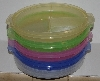 "MBA# 2828-578  ""Set Of 4 Plastic Divided Plates With Lids"""