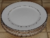 "+MBA #2828-279  ""Set Of 4 Wallace White China Gold Trimed Dinner Plates"""