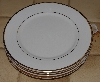 "+MBA #2828-484   ""Set Of 4 Wallace Gold Trimed White China Toast Plates"""