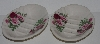 "+MBA #2828-0157   ""Set Of 2 Pink & Red Rose Crown Heritage Ceramic Soap Dishes"""