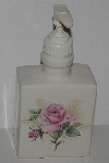 "+MBA #2828-213  ""Ceramic Pink Clairemont Rose Hand Soap Dispenser"""