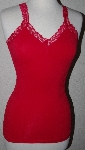 "MBA #2929-402  ""Set Of 2 Hot From Hollywood Hot Sleveless V-Neck Ruched Tops"""