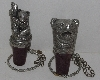 "MBA #3030-391   ""Set Of 2 2006 H M Bear Pewter Bottle Stoppers"""