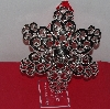 "MBA #3030-475    ""Lenox Set Of 2 Crystal Accent Silver Plated Snowflake Ornaments"""