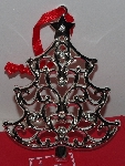 "MBA #3030-455    ""Lenox Set Of 2 Clear Crystal Accent Silver Plated Tree Ornaments"""