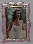 "MBA #3030-135    ""Royal Goldtone Metal Jeweled Picture Frame"""