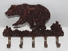 "MBA #3131-0147  ""Rustic Metal Bear Key Holder"""