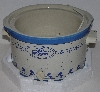 "MBA #3434-446  "" 1982 Rival Model #3355 Crockery Blue Stoneware 5 Quart Crock Pot"""