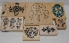 "MBA #3434-228   ""1990's Set Of 8 South Western Themed Rubber Stamps"""