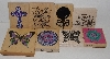 "MBA #3434-238   ""1990's Set Of 8 Multi Themed Large Rubber Stamps"""