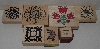"MBA #3434-242   ""1990's Set Of 7 Multi Themed Rubber Stamps"""