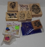 "MBA #3434-254   ""1980's & 1990's Set Of 8 Multi Themed Rubber Stamps"""