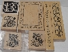 "MBA #3434-279   ""1990's Set Of 7 Multi Themed Rubber Stamps"""