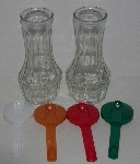 """SOLD"" MBA #3434-209   ""Set Of 2 1980's Good Seasons Salad Dressing Cruets With 4 Lids"""