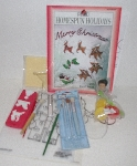 "MBA #3434-0183   ""Plaid 1999 Homespun Holidays Painting Set"""