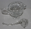 "MBA #3535-953   ""Crystal Gravy Boat With Glass Ladle"""