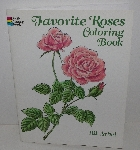 "MBA #3535-375   ""1988 Favorite Roses Coloring Book By Ilil Arbel"""