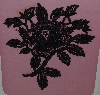 "MBA #3535-325   ""1988 Set Of 2 Fancy Black Lace Rose Appliques"""