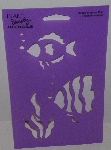 "MBA #3636-511   ""1990's Plaid Tropical Fish #28126 Stencil"""