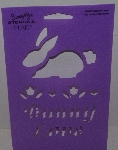 "MBA #3636-509  ""1990's Plaid Bunny Love #28103 Stencil"""