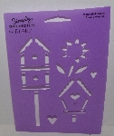 "MBA #3636-505   ""1990's Plaid Birdhouses Stencil #28131"