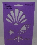 """SOLD"" MBA #3636-503   ""1990's Plaid Seashell Delight Stencil #28125"""