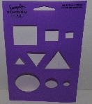 "MBA #3636-500   ""1990's- Plaid Basic Shapes Stencil #28122"""