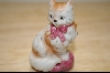 1986 Franklin Mint Hand Painted China Cat