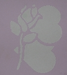 "MBA #3636-211   ""1993 Rose & Hearts 7"" X 7-1/2"" Stencil"""