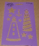 "MBA #3636-248   ""1990 Plaid Lighthouse Stencil #28130"""